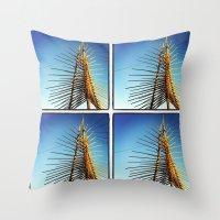 coachella Throw Pillows featuring Coachella by Wolf Feather