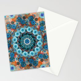 Happy orange background Stationery Cards