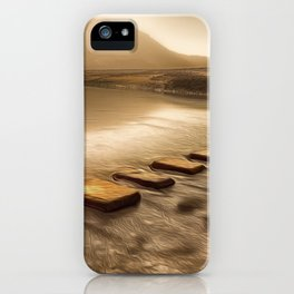 Stepping stones with oil painting effect iPhone Case
