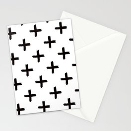 Swiss Cross in Black + White Stationery Cards