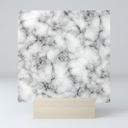 White Marble Texture Mini Art Print