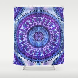 Hydrangea Mandala Shower Curtain