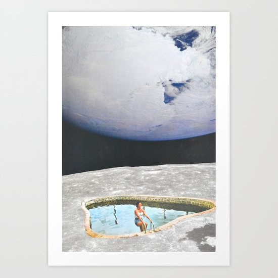 Moon In Water Art Print