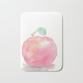 Watercolor Apple Bath Mat