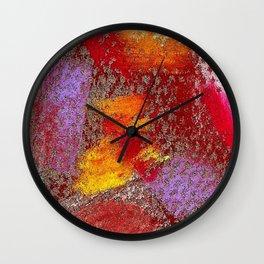Grey mosaics Wall Clock