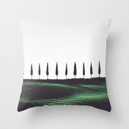 Pine Trees Throw Pillow
