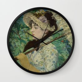 Jeanne (Spring) by Édouard Manet (1881) Wall Clock