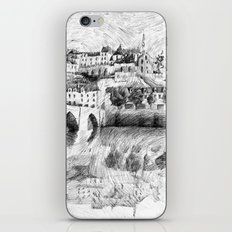 Terrasson village - France drawing iPhone & iPod Skin