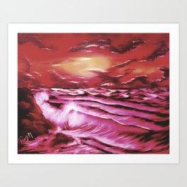 Crimson Tide Art Print