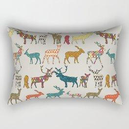 patterned deer stone Rectangular Pillow