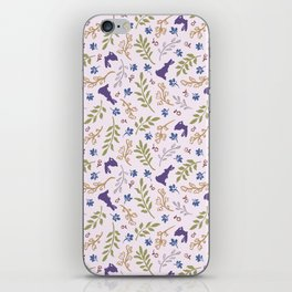Ditsy Bunnies Amok - Purple Bunnies, Pink Background iPhone Skin