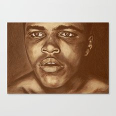 round 1...cassius clay Canvas Print