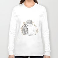 coconutwishes Long Sleeve T-shirts featuring Louis and the chimp by Coconut Wishes