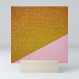 Pink Gold Rain Mini Art Print