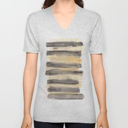 141203 Abstract Watercolor Block 11 Unisex V-Neck