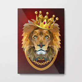 The King of Lions Metal Print