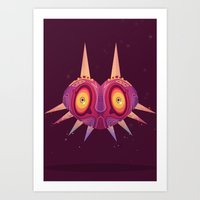 majora Art Prints featuring MAJORA by Spencer Duffy