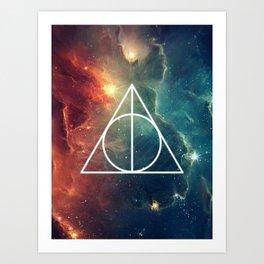 Deathly Hallows Nebula HP Art Print
