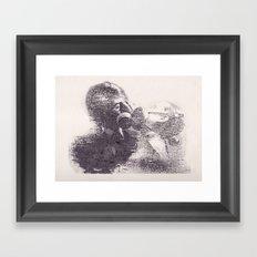 Please don't disappear Framed Art Print