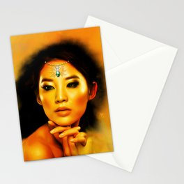 Green Eyed Beauty Stationery Cards