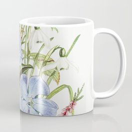 Periwinkle Snowdrop White Rose and Common Heath from The Language of Flowers or Floral Emblems of Th Coffee Mug