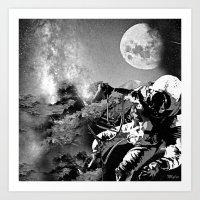 astronaut Art Prints featuring Astronaut  by Saundra Myles