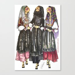 Dorgali Women Canvas Print