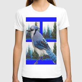 MOUNTAIN BLUE JAY SCENIC ART T-shirt