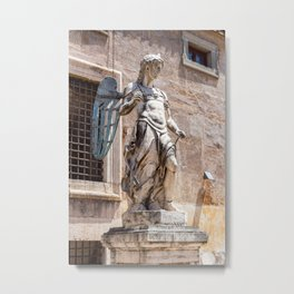 Angel statue inside Castle Sant'Angelo in Rome Metal Print