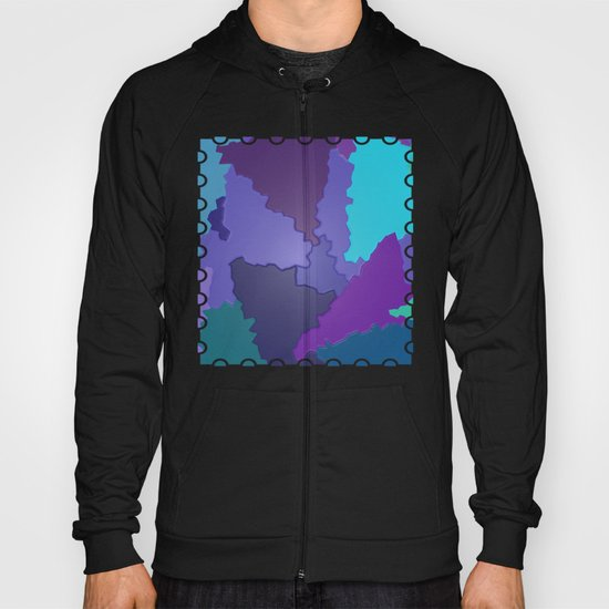 Blues and Purples Puzzle Patchwork Hoody