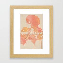 Bob Dylan Illustration Framed Art Print