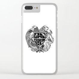 ARMENIAN COAT OF ARMS - Black Clear iPhone Case