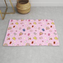 cardcaptor sakura pattern pink Rug