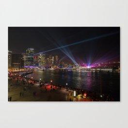 VIVID Sydney Harbour Canvas Print