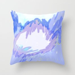 purple ocean Throw Pillow