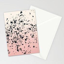 Cream, blush, black. Stationery Cards