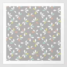 loves me loves me not pattern - pastel Art Print