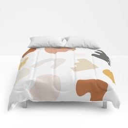Abstract Shape Series - Autumn Color Study Comforters