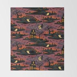 Halloween Night - Bonfire Glow Throw Blanket