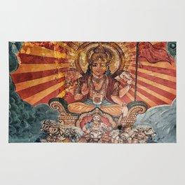 Hindu Temple Art Rug