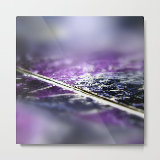 Abstract macro SILVER-PURPLE Metal Print