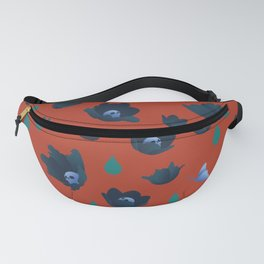 Winter Poppies Fanny Pack