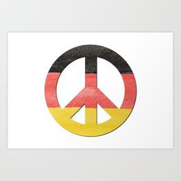 Water Color German Flag CND Peace Symbol Art Print