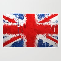 british Area & Throw Rugs featuring BRITISH FLAG by Sophie