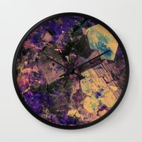 gem Wall Clocks featuring Vintage Gem by Simona Sacchi