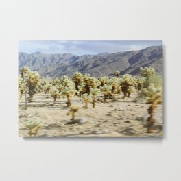 Speeding Through Joshua Tree Metal Print