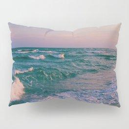 Sunset Crashing Waves Pillow Sham