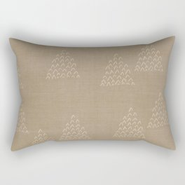 DESERT MUDCLOTH . ABSTRACT MOUNTAIN TRIANGLES Rectangular Pillow