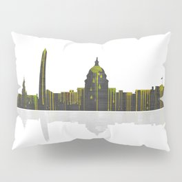 Washington DC Skyline BW 1 Pillow Sham