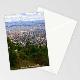 Mount Monserrate, with a 10,000 ft view of Bogota Colombia Stationery Cards